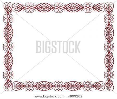 Ornamental Red Certificate Border