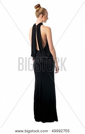 Glamorous Woman In An Evening Gown