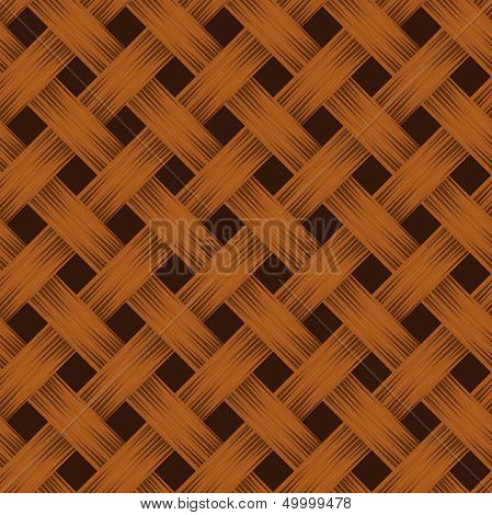 Wicker texture. Vector seamless background.