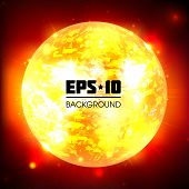 Exploding Planet. Vector Illustration. This is file of EPS10 format. poster