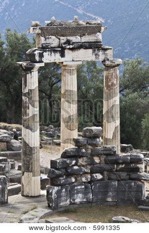 Temple of Athena pronoia at Delphi, Greece