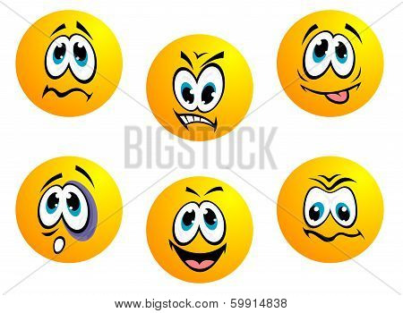 Collection of yellow emoticons