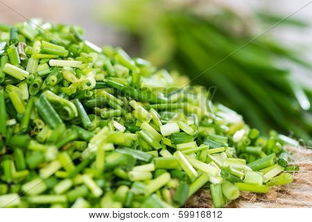 Portion Of Cutted Chive