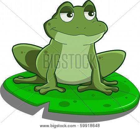 A Frog on a Lily pad, just relaxing poster