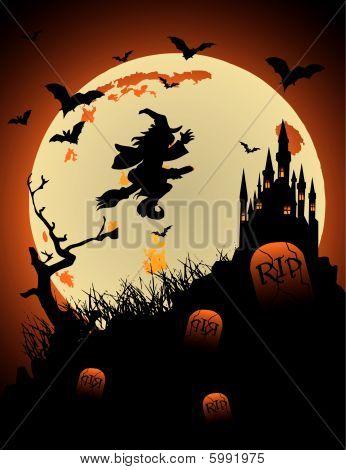 Halloween heks vector