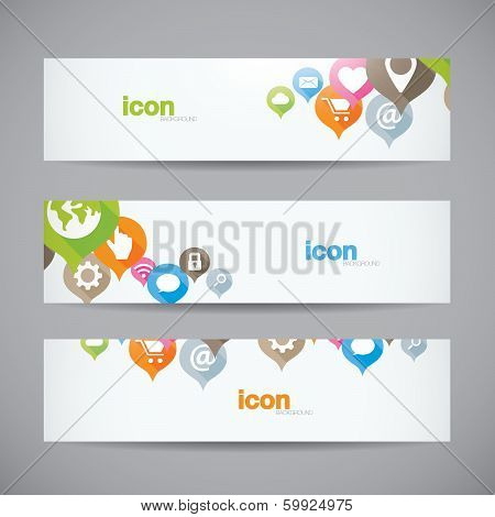 Creative abstract background web icon banner header vector poster