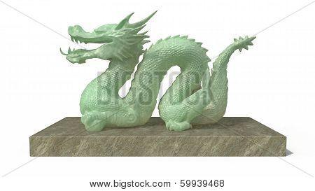 Dragon Stature In Stone