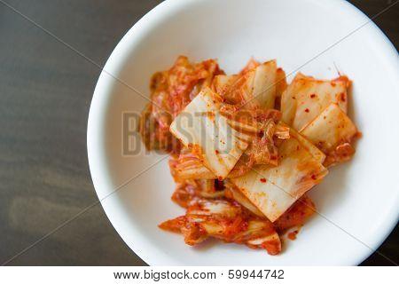 Kimchi Salad Of Korean Food Traditional
