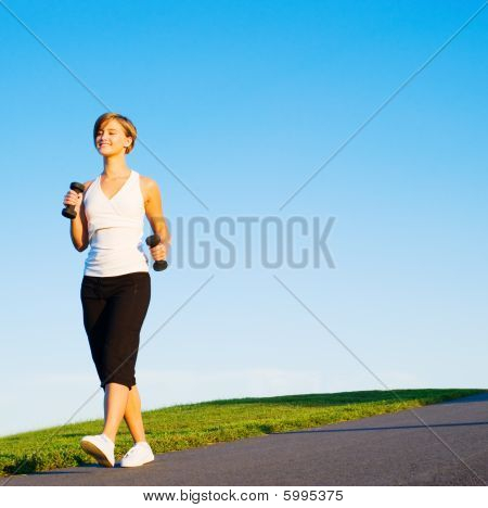 Young Woman Walking