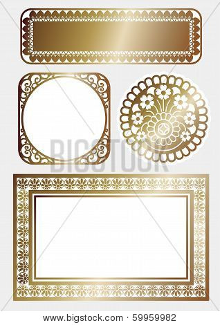 It is frame of art deco of gold. poster