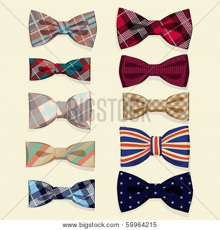 Set of vector bow-ties
