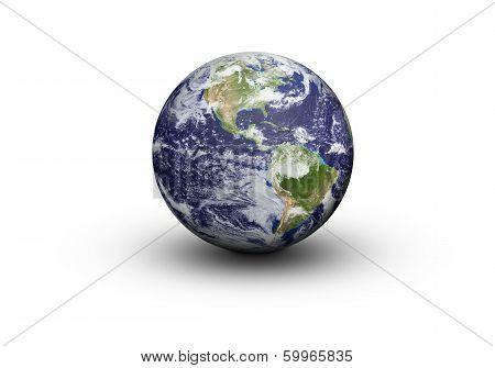 Earth Globe - North And South America