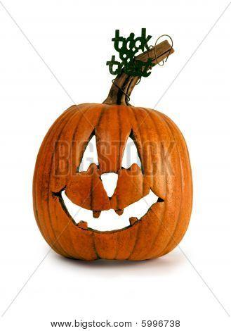 Rustic Pumpkin Jack-O-Lantern