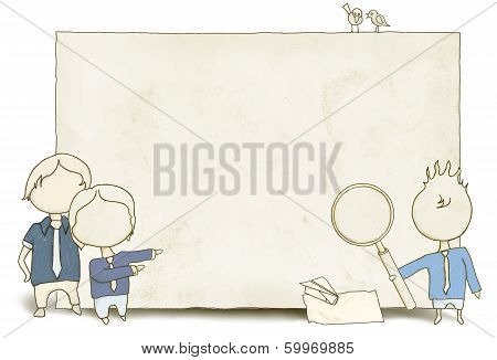 Seo Staff With Blank Paper