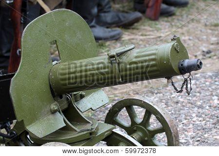 Old Powerful Military machine Gun - Maxim gun poster