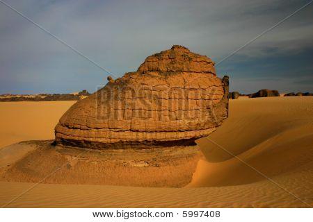 Rock in a hole