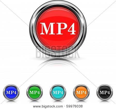 Mp4 Icon - Six Colors Vector Set