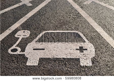Electric charging point parking space