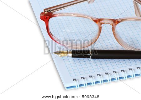 Spectacles On Spiral Notebook