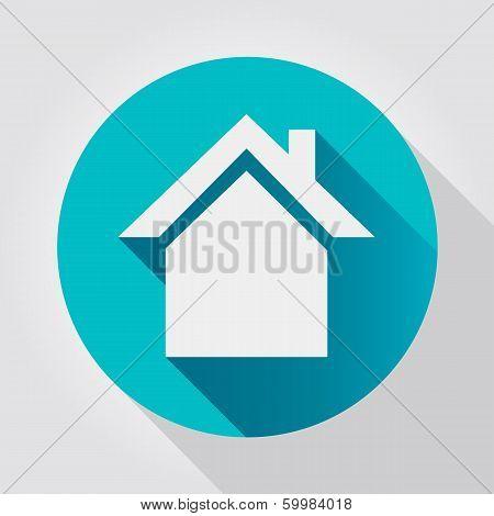 Home icon, flat design