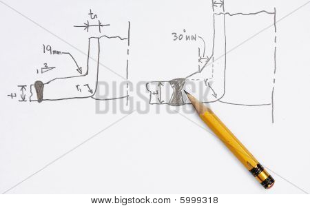 Sketch Of Nozzle Welding Joints