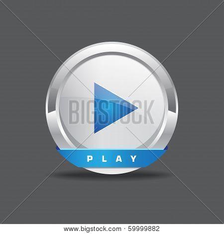 Play Button Round Vector Icon