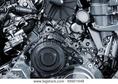 Car Engine Background