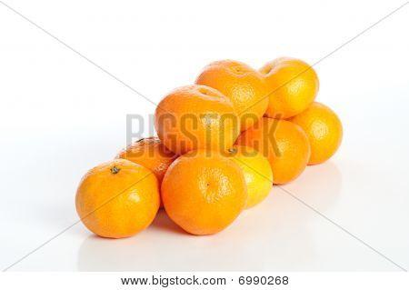 Fresh Mandarin On A White Background