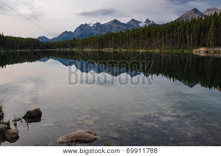 Reflection At The Rendez-vous, Rockies, Canada