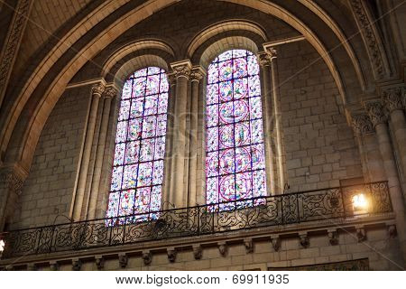Window In Saint Maurice Cathedral In Angers