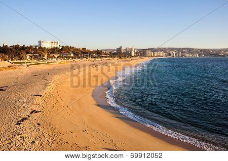 Beach At Vina Del Mar, Chile