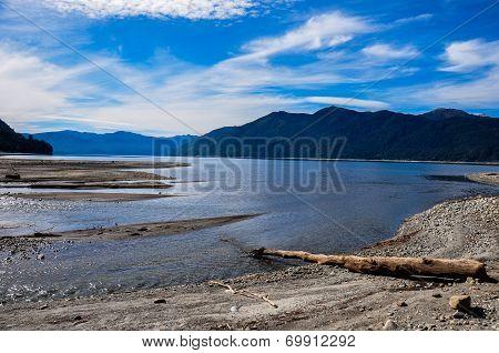 Caburgua Beach Near Villarrica, Chile
