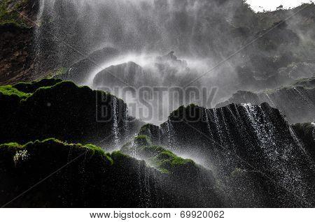 Beautiful Waterfall In Canyon Of Sumidero, Mexico