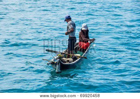 Selling Food In The Panama San Blas Islands poster