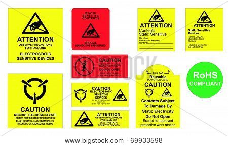 Antistatic Labels