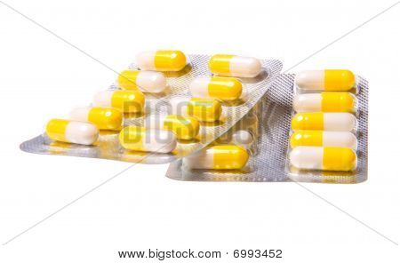 Medicine Pills Isolated On White Background