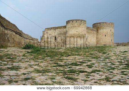 Bastion In Old Turkish Stronghold Akkerman (white Fortress) On The River Bank In Belgorod-dnestrovsk