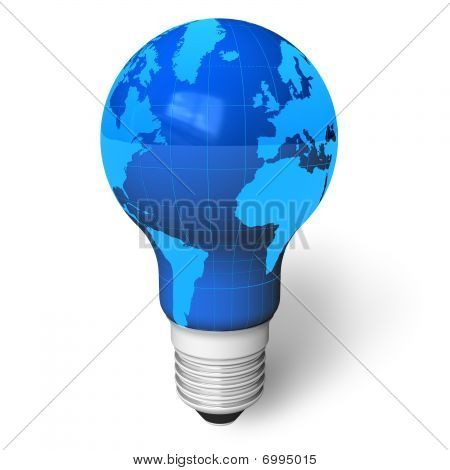 Earth as a lamp