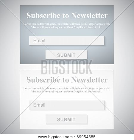The Simple Gray Subscribe To Newsletter Form.