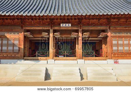 View Of Jangandang In Gyeongbok Palace In Korea