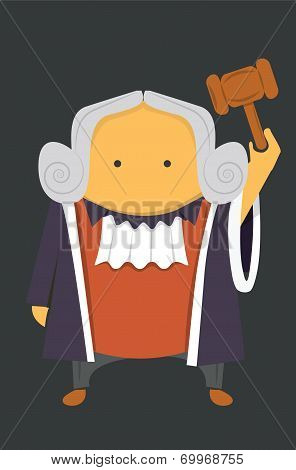 Judge with a hammer