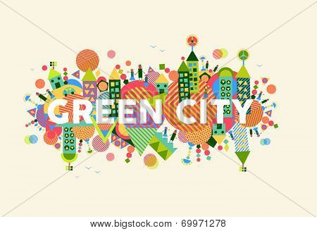 Green City Concept Illustration