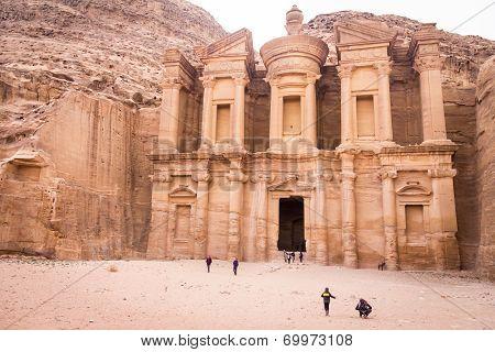 Petra Jordan   the monastery