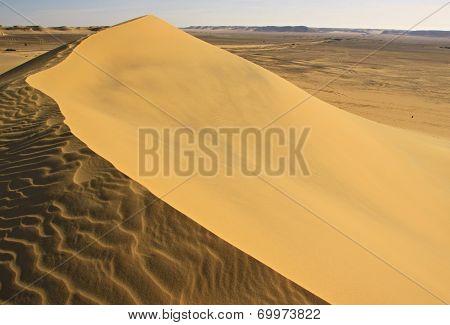 Sand dunes in Lybian desert
