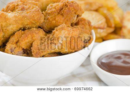 Fried Hot Chicken Wings