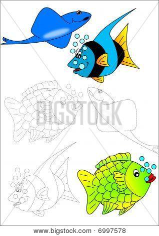 Coloring book-fish