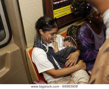 Breastfeeding on the A train