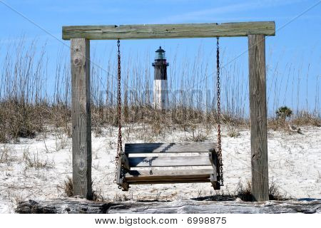 Tybee Island Lighthouse With Swing