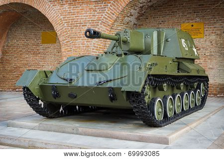 Russia, Nizhny Novgorod - Aug 06, 2014:Self-propelled Artillery Mount During The Second World