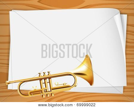 Illustration of the empty bondpapers with a trombone
